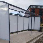 Smoking shelter BM Steel Fabrications